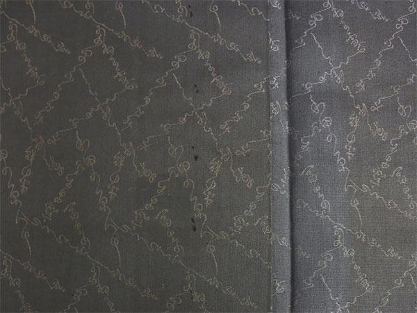 【中古】小紋 単 古着 ハギレ 舞台衣装 灰色 身丈141cm 【着物】_画像5
