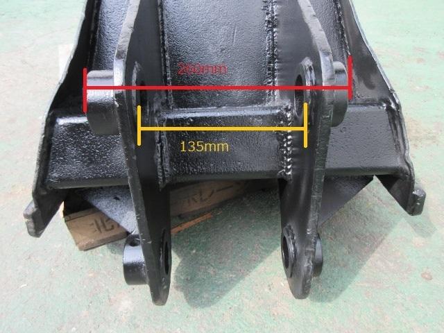 FT68 重機 用 台形バケット ピン径45mm 幅170~550mm ユンボ 建設機械_画像8