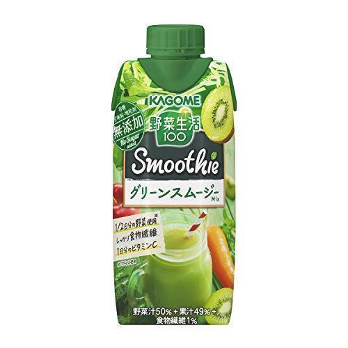 Smoothie(スムージー) グリーンスムージーMix 330ml×12本 野菜生活100 カゴメ UK1J_画像1