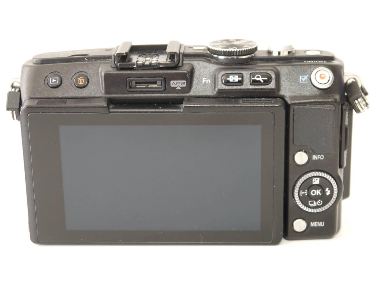 ジャンク OLYMPUS PEN Lite 一眼 カメラ E-PL5 ブラック ボディ 液晶×_画像3