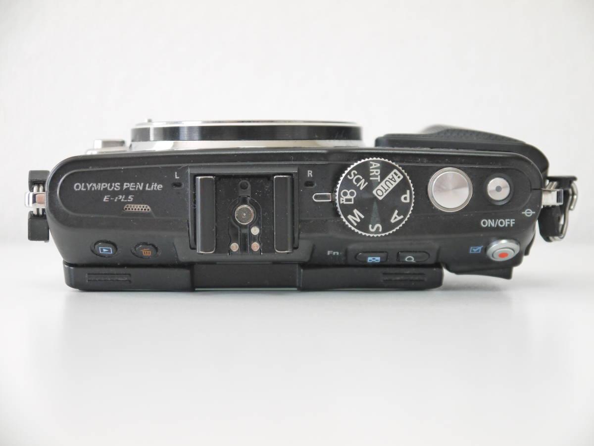 ジャンク OLYMPUS PEN Lite 一眼 カメラ E-PL5 ブラック ボディ 液晶×_画像4