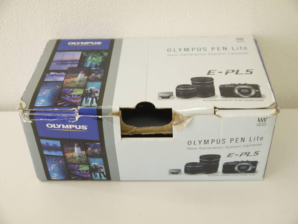 ジャンク OLYMPUS PEN Lite 一眼 カメラ E-PL5 ブラック ボディ 液晶×_画像6
