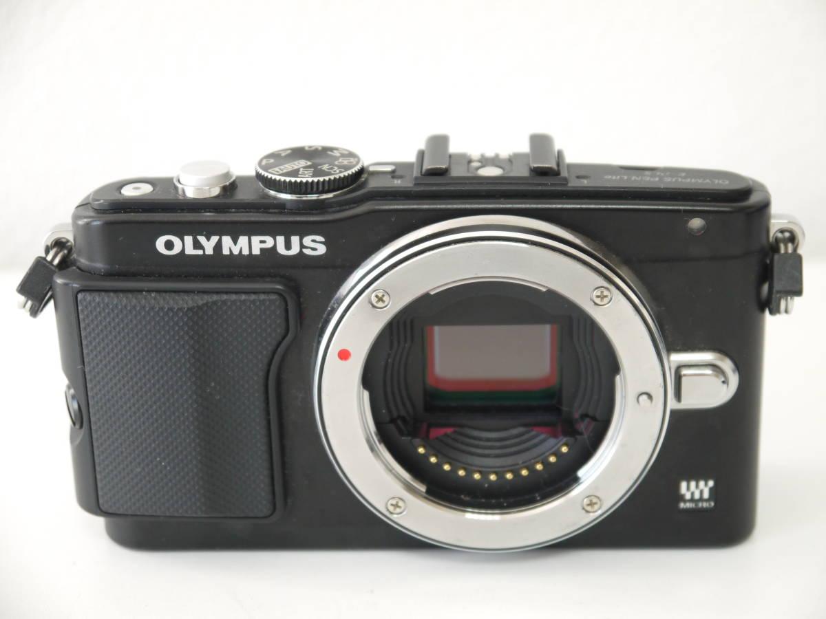 ジャンク OLYMPUS PEN Lite 一眼 カメラ E-PL5 ブラック ボディ 液晶×_画像2