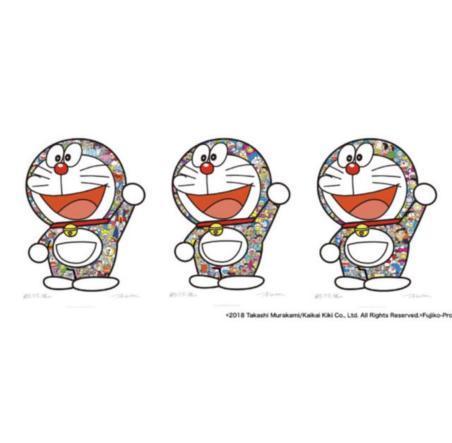 村上隆 3枚セット シルクスクリーンドラえもん ありがとう ドラえもん さぁ!行くぞ! ドラえもん えいえいおー! _画像1