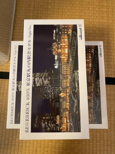 未使用 東京駅丸の内駅舎モデル 3体セット be@rbrick ベアブリック メディコムトイ night ver._画像2