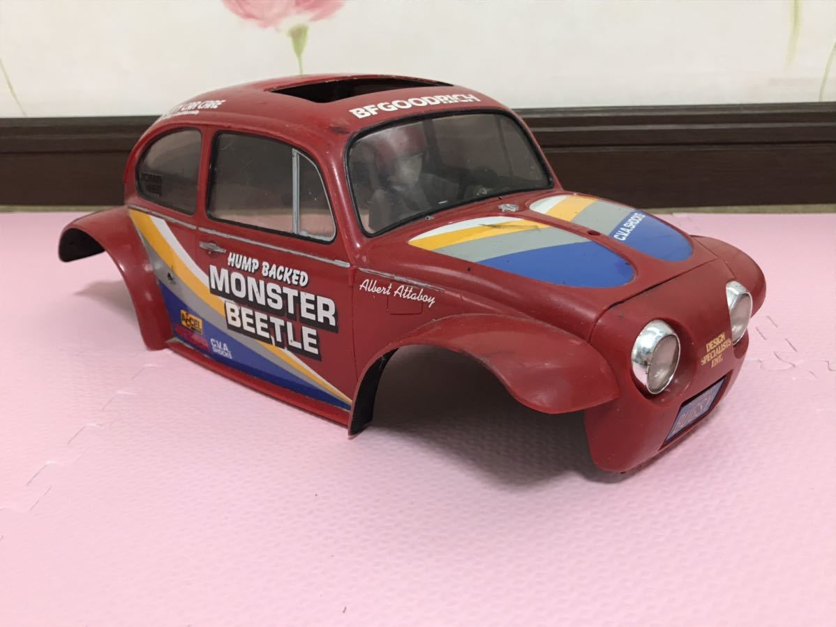 送料無料 タミヤ モンスタービートル プラスチック ラジコン ボディ ドライバーフィギュア付き TAMIYA MONSTER BEETLE RC BODY