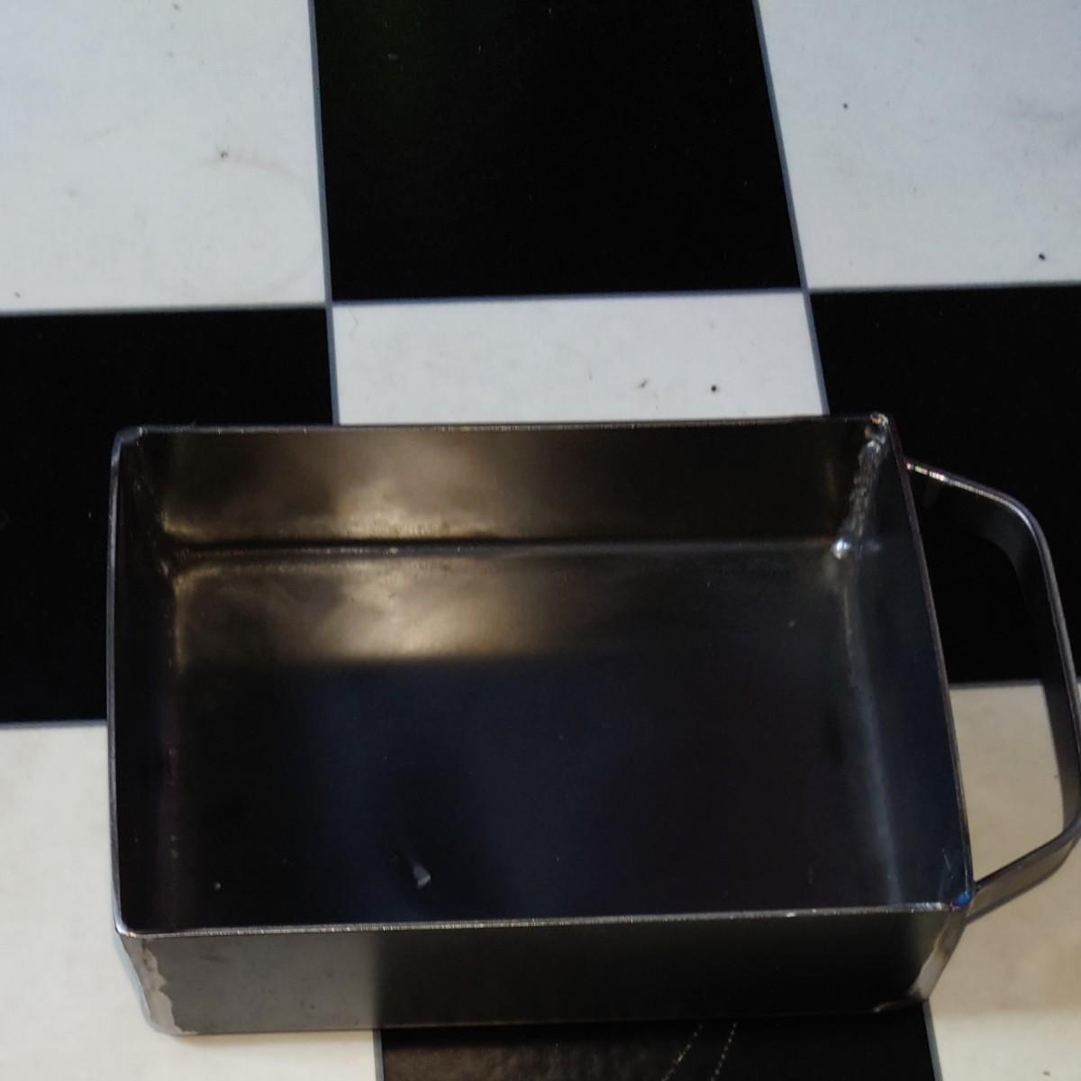 ソロバーベキュー箱曲げ鉄板2.3ミリ 約215×155×50