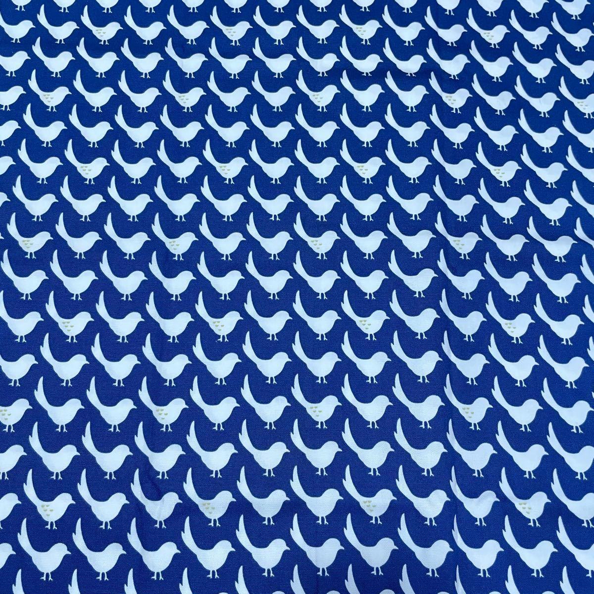 巾110×50cm オックス生地 インコ 鳥 プリント セール