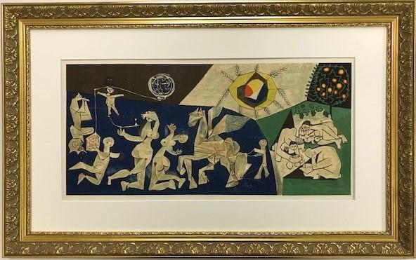 【特価】 ≪  パブロ・ピカソ  ≫  リトグラフ【石版画】   LA PAIX Ⅱ   1954年  LA GUERRE ET LA PAIX  PABLO PICASSO
