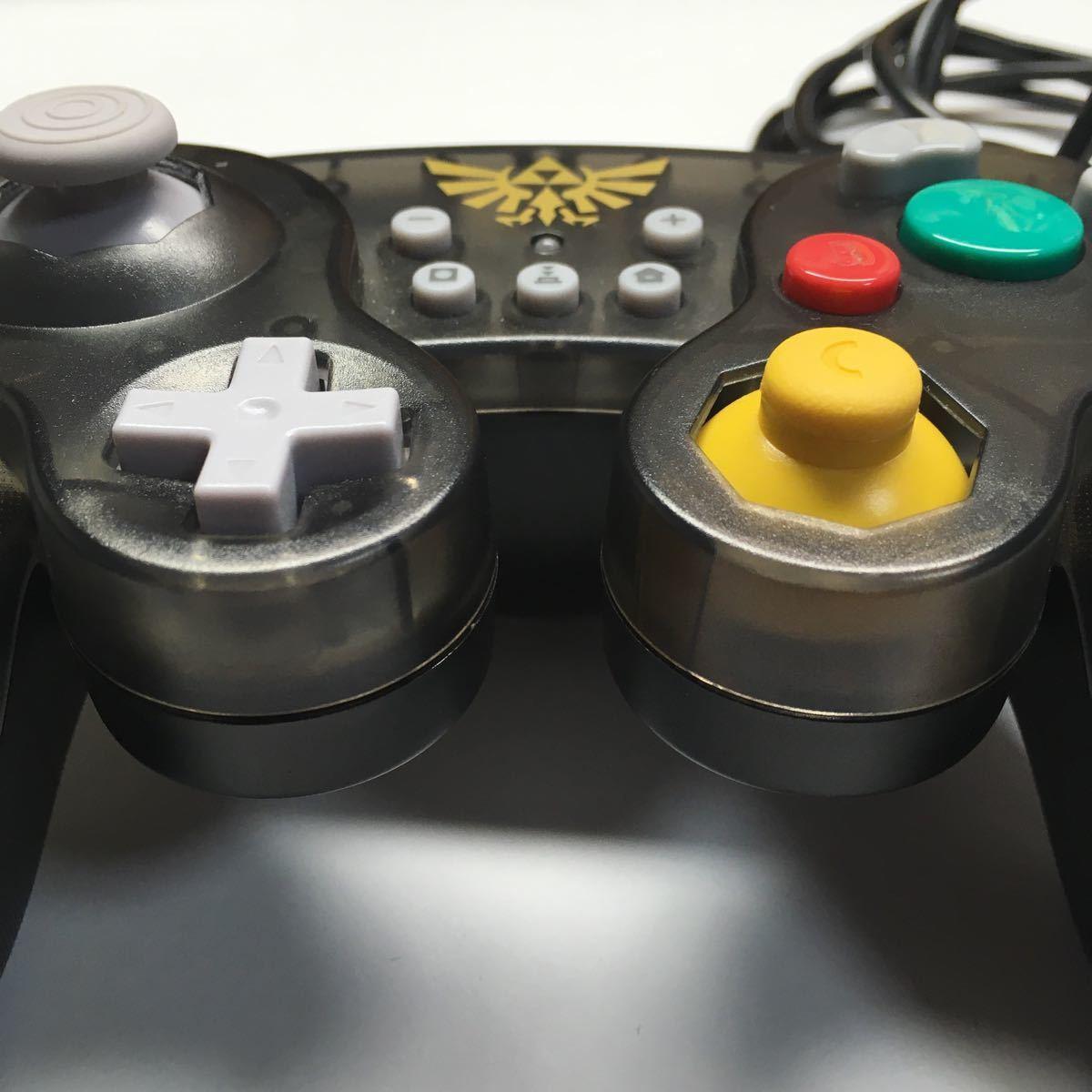 ゲームキューブ コントローラー HORI ホリ ニンテンドースイッチ ゼルダの伝説 動作確認済み スマブラ ブラック Switch