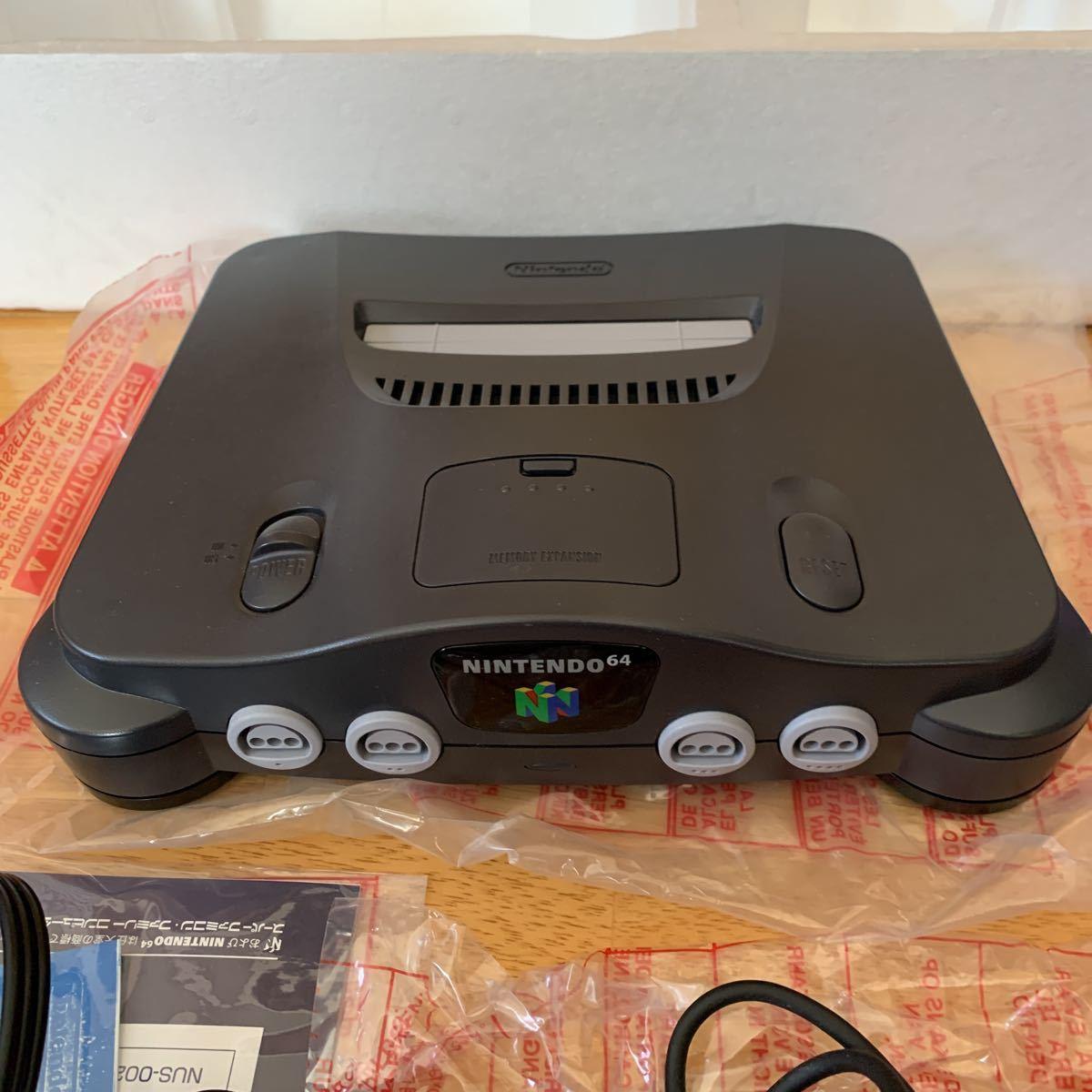 任天堂 ニンテンドー NINTENDO 64 本体 & ソフト マリオカート セット 使用品 美品 未使用に近い 送料無料