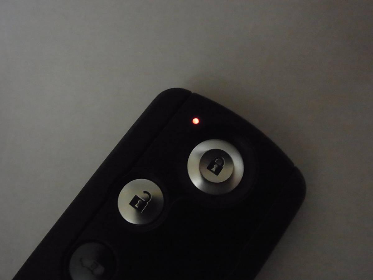 動作良好!!良品 ホンダ 純正品 72147-SJK-N21 RR1/RR5 エリシオン 4ボタン 両側スライドドア スマートキー スペア 送料140円~_画像7