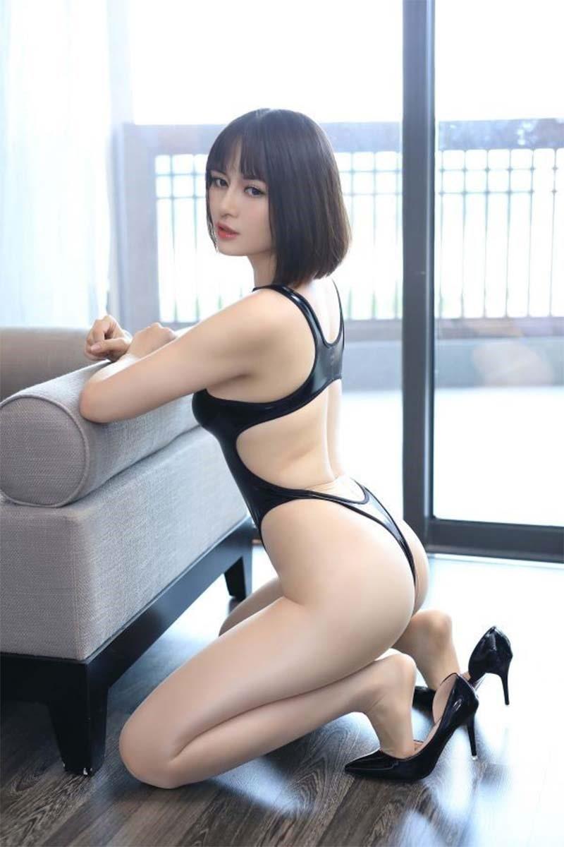 超セクシー エナメル 光沢 ハイレグレオタード フェイクレザー コスプレ レースクイーン RT256/ブラック_画像6