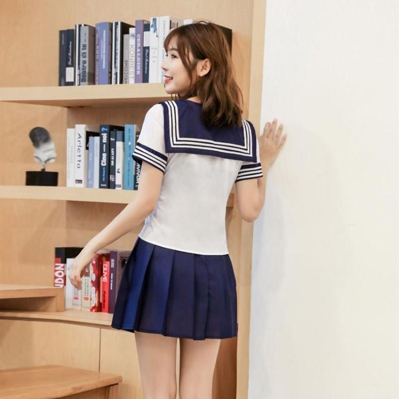 可愛い セーラー服 学生服 トップス&ミニスカート コスプレ 仮装 制服 ハロウィン衣装 RT166/M_画像4