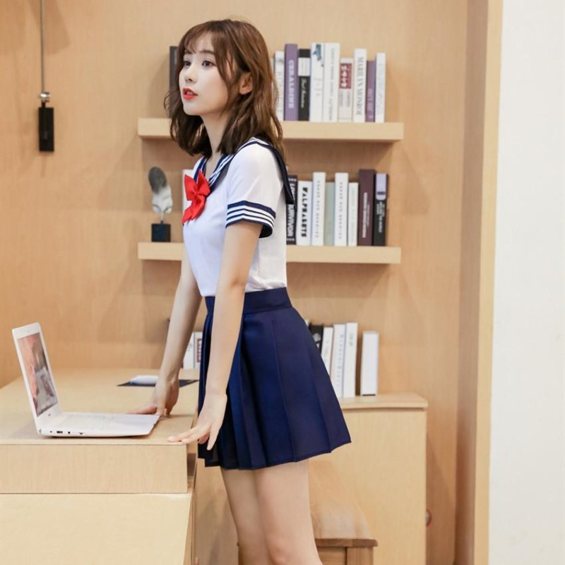 可愛い セーラー服 学生服 トップス&ミニスカート コスプレ 仮装 制服 ハロウィン衣装 RT166/L_画像6