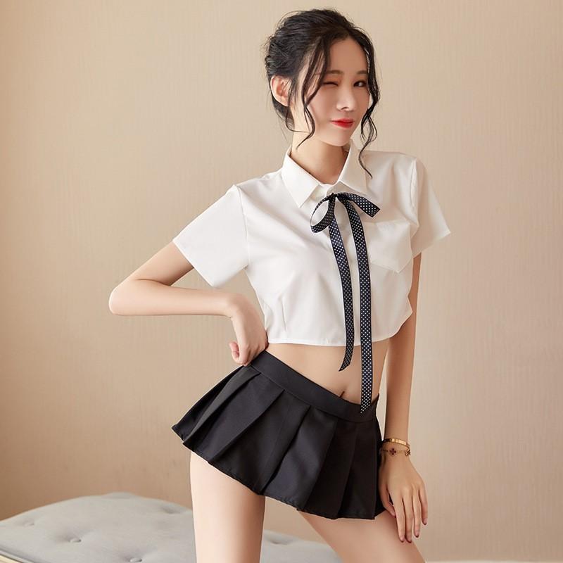 超セクシー 可愛い 学生服 セーラー服風 トップス+ミニスカート 3点セット コスプレ衣装 RT86/M_画像6