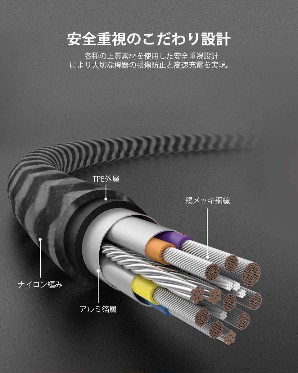 USB C/Type c to Type c ケーブル 【USB3.0 PD対応 60W/3A急速充電 1M】 MacBook、iPad Pro(2018/2020)、Galaxy等type c機種対応
