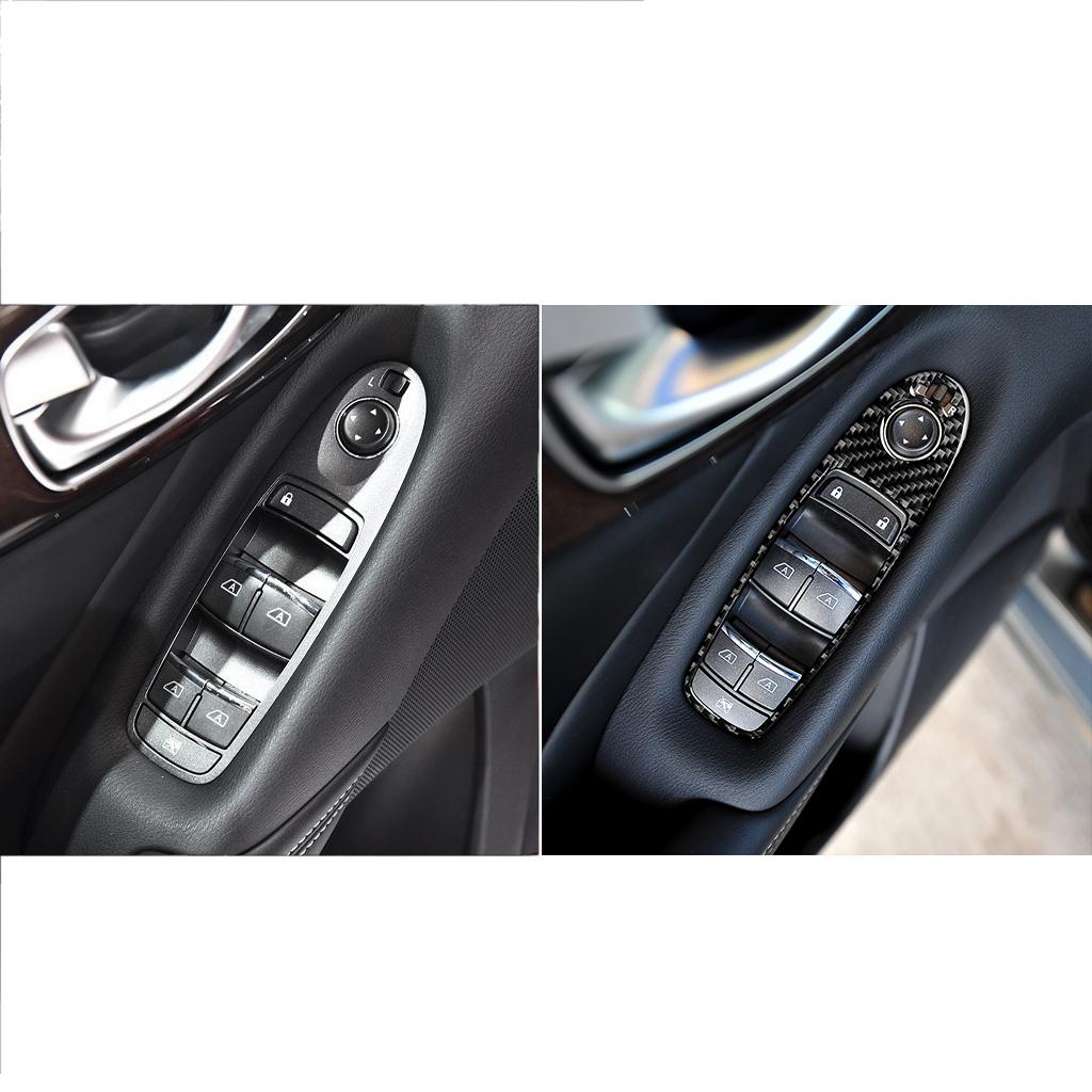 スカイライン V37 インフィニティ Q50 電気窓ダブルスイッチボタンカバーC カーボン_画像1