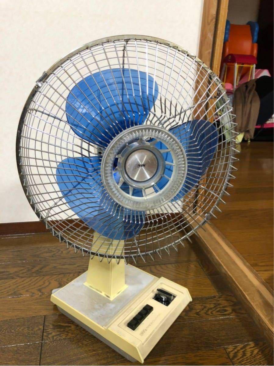 扇風機 レトロ レトロ扇風機 昭和レトロ アンティーク TOSHIBA ナショナル NEC neocool nf-30tg ブルー_画像2