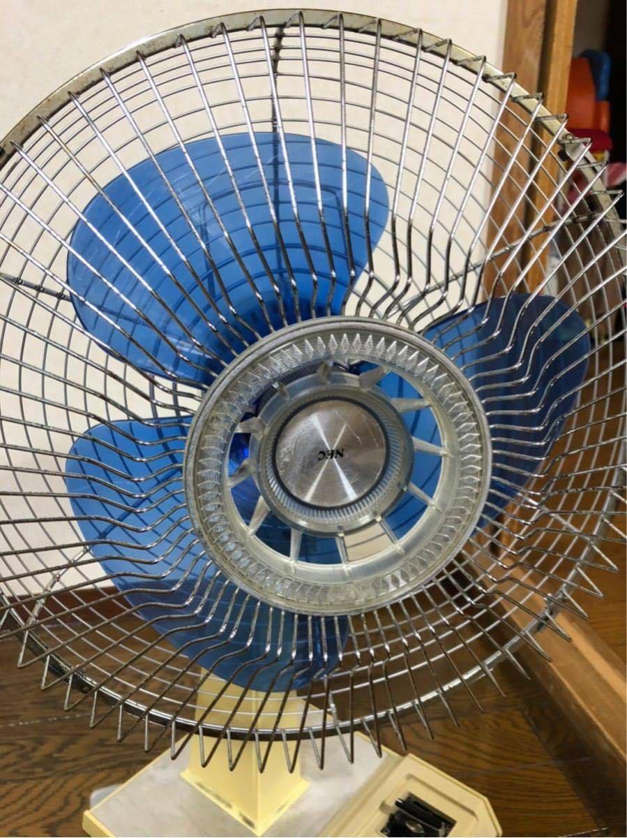扇風機 レトロ レトロ扇風機 昭和レトロ アンティーク TOSHIBA ナショナル NEC neocool nf-30tg ブルー_画像7