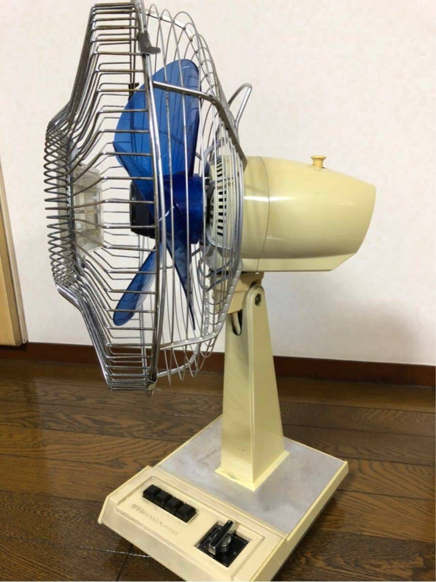 扇風機 レトロ レトロ扇風機 昭和レトロ アンティーク TOSHIBA ナショナル NEC neocool nf-30tg ブルー_画像3