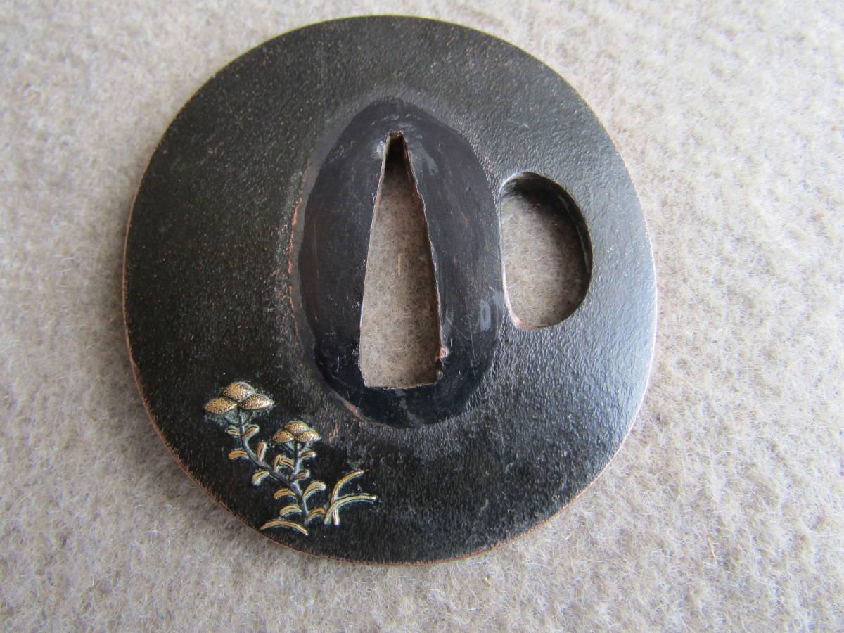 赤胴に金象嵌の鍔_画像2