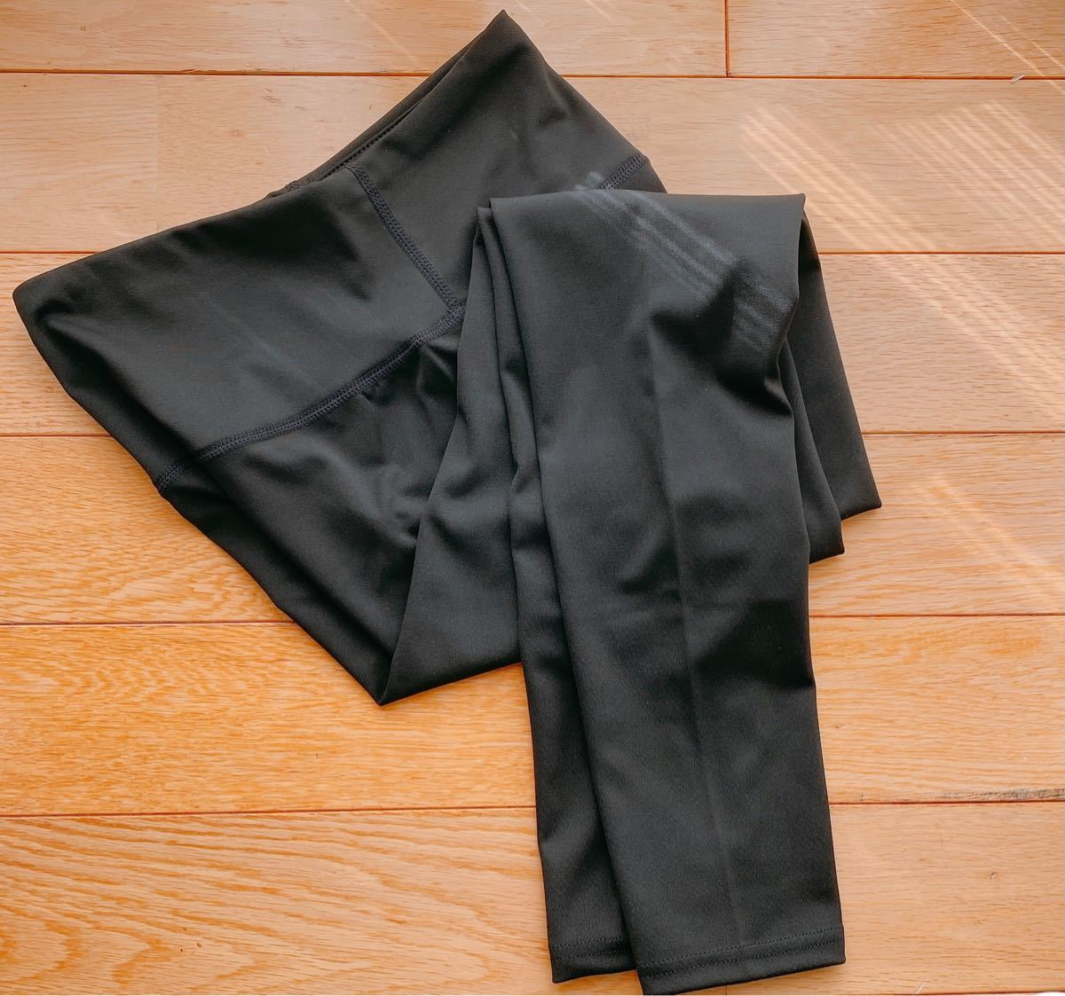 M ブラック ヨガ パンツ レディース レギンス 10分丈 スポーツ ヨガウェア