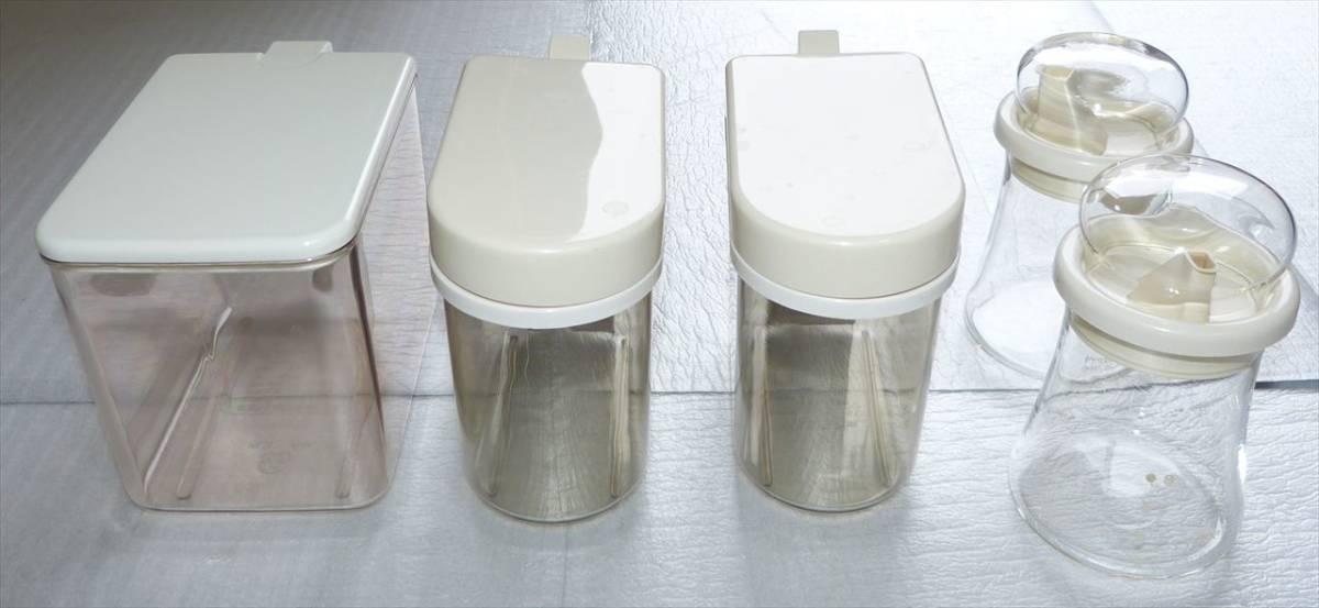 ★ 調味料入れ 5個まとめ売り 日本製 イワキガラス2個 ★_画像1