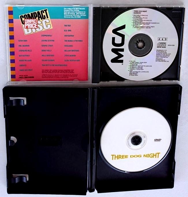 【送料無料】スリードッグナイトCD6th[ハーモニーHARMONY]全10曲+DVD[THREE DOG NIGHT] 全20曲85min喜びの世界 ジョイ・トゥ・ザ・ワールド