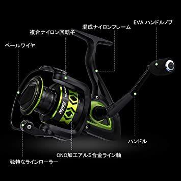 2000 2000 ランケル(RUNCL) スピニングリール 軽量 釣り リール 釣り具 左右交換可能 最大ドラグ力8Kg スム_画像2