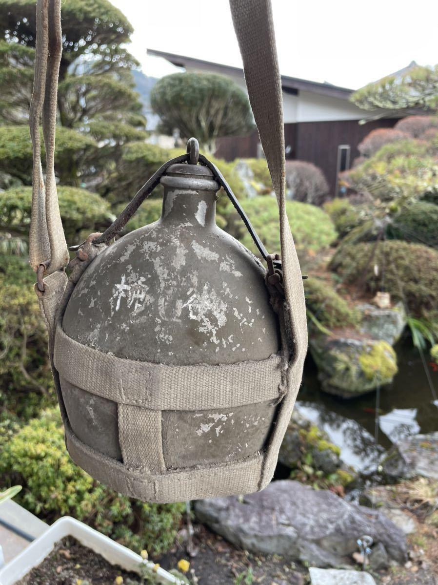 水筒 旧日本軍 軍隊 当時物 昭和レトロ 旧日本陸軍 金沢連隊支給品 第二次世界大戦 太平洋戦争_画像1