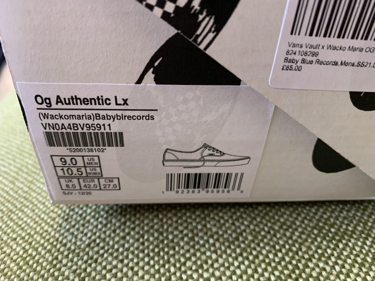 新品 27.0cm WACKO MARIA × VANS VAULT UA OG AUTHENTIC LX BABY BLUE RECORDS ワコマリア バンズ ベイビー ブルー レコード 27cm_画像9