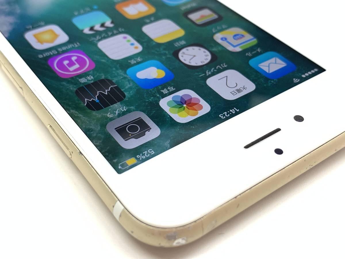 020142◆◇1スタ au SIMロック解除済み ○判定 Apple iPhone6S 64GB MKQQ2J/A ゴールド ジャンク品◇◆_画像3