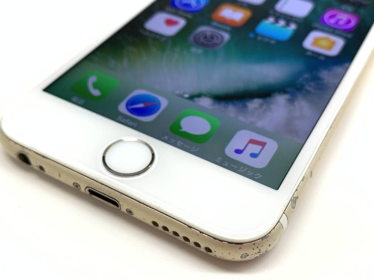 020142◆◇1スタ au SIMロック解除済み ○判定 Apple iPhone6S 64GB MKQQ2J/A ゴールド ジャンク品◇◆_画像2