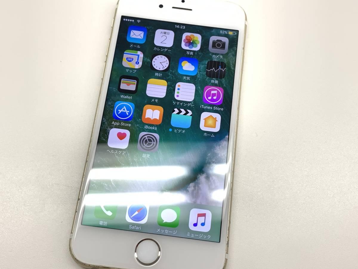 020142◆◇1スタ au SIMロック解除済み ○判定 Apple iPhone6S 64GB MKQQ2J/A ゴールド ジャンク品◇◆_画像1