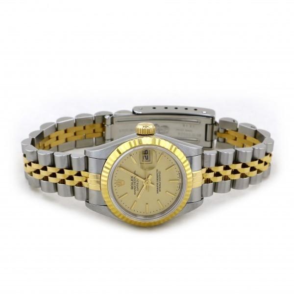 ロレックス ROLEX デイトジャスト 69173 シャンパン文字盤 中古 腕時計 レディース_画像2