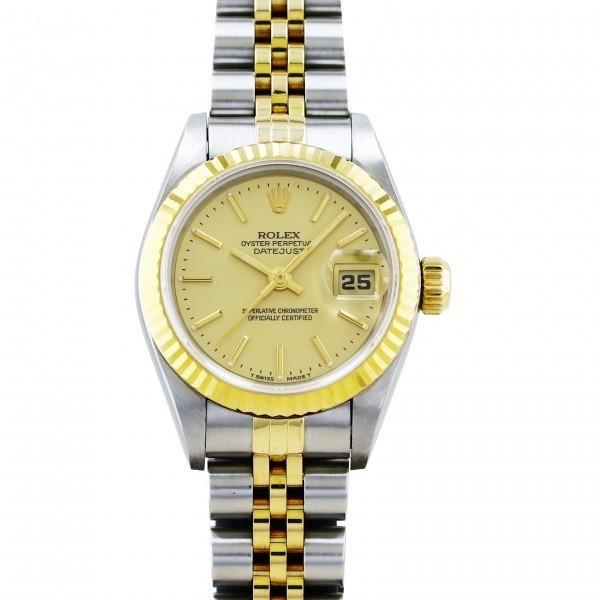ロレックス ROLEX デイトジャスト 69173 シャンパン文字盤 中古 腕時計 レディース_画像1