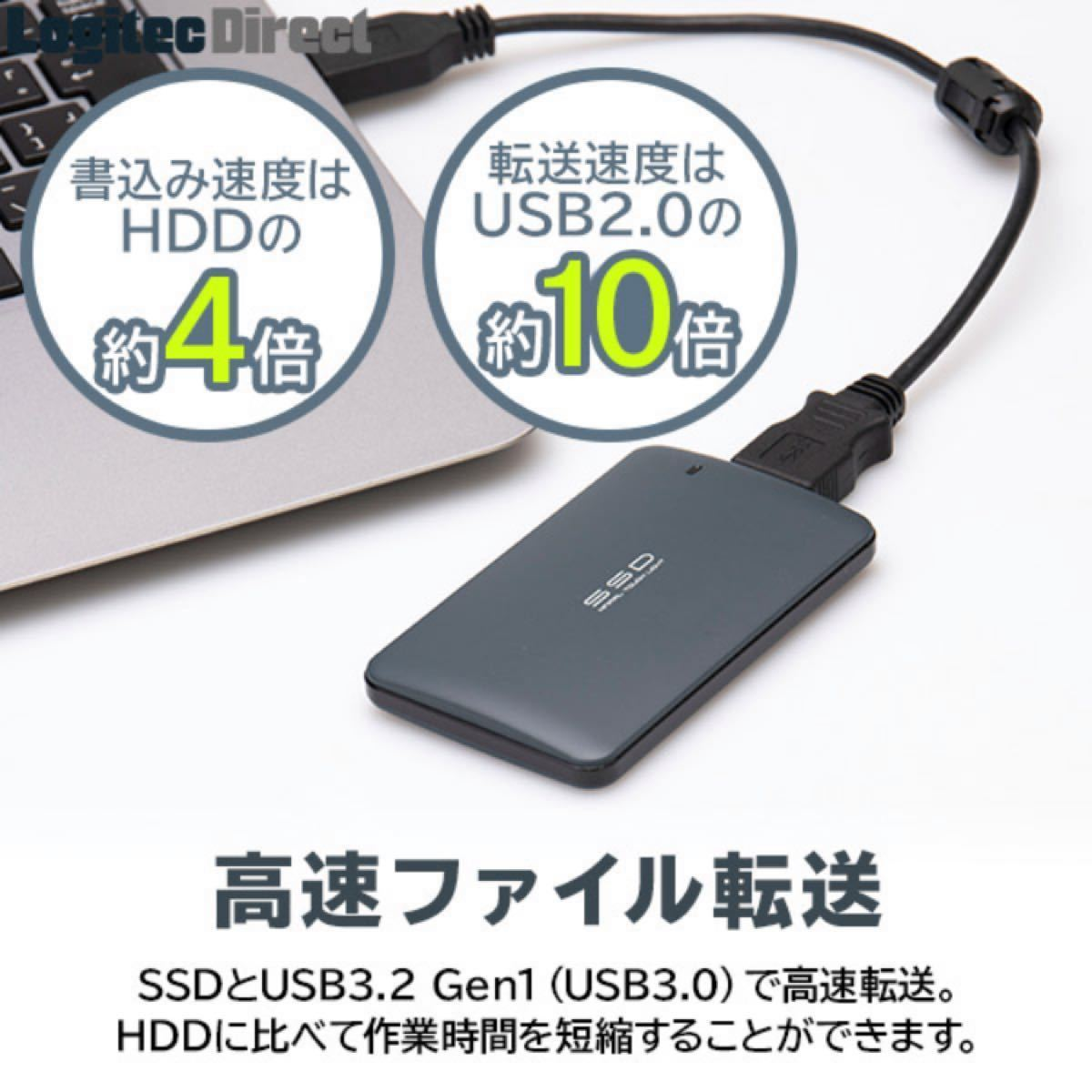 Logitec ポータブルSSD 480GB