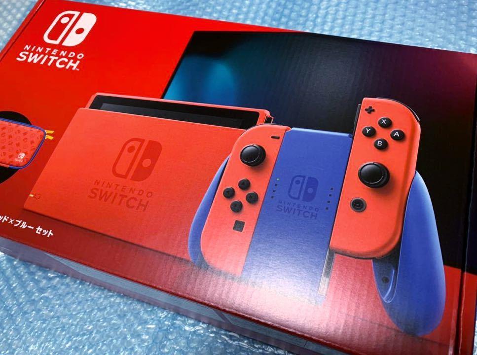 新品 [Nintendo Switch 本体 マリオレッド×ブルー セット ニンテンドースイッチ]
