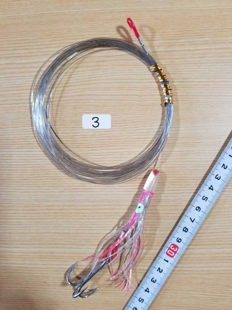 トローリング ルアー カツオ 3本針 2個セット 3_画像3