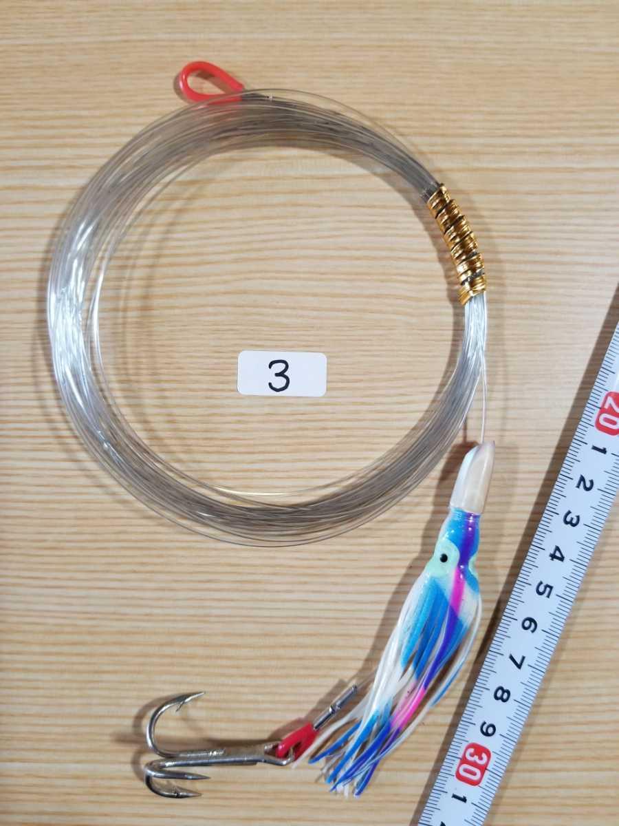 トローリング ルアー カツオ 3本針 2個セット 3_画像2
