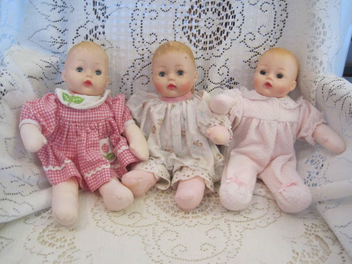 マダムアレクサンダー ベビードール 人形 3体(1体はスクィーキー) USA ビンテージ 1977年_画像1