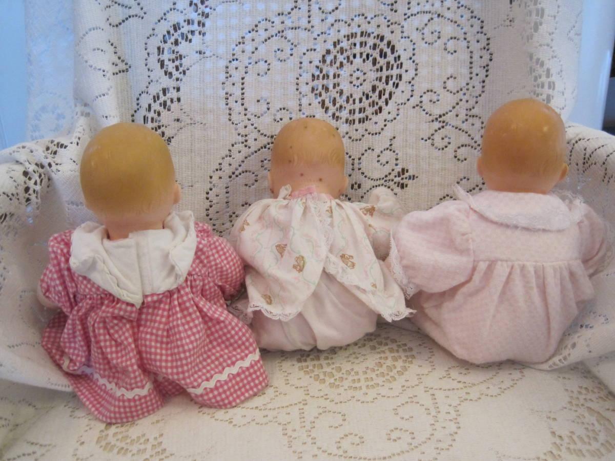マダムアレクサンダー ベビードール 人形 3体(1体はスクィーキー) USA ビンテージ 1977年_画像3