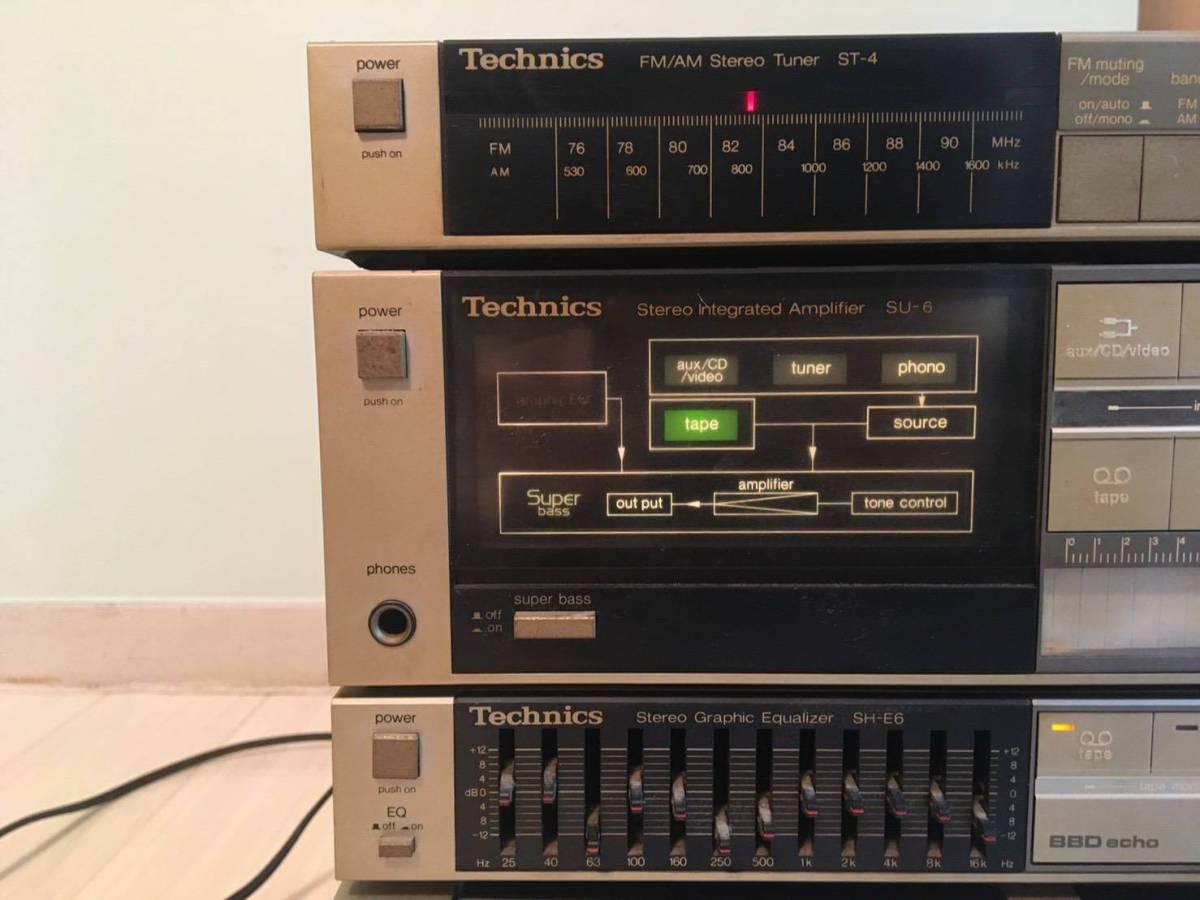 Technics テクニクス SH-E6 ST-4 SU-6 RS-1W コンポ イコライザー オーディオ_画像5