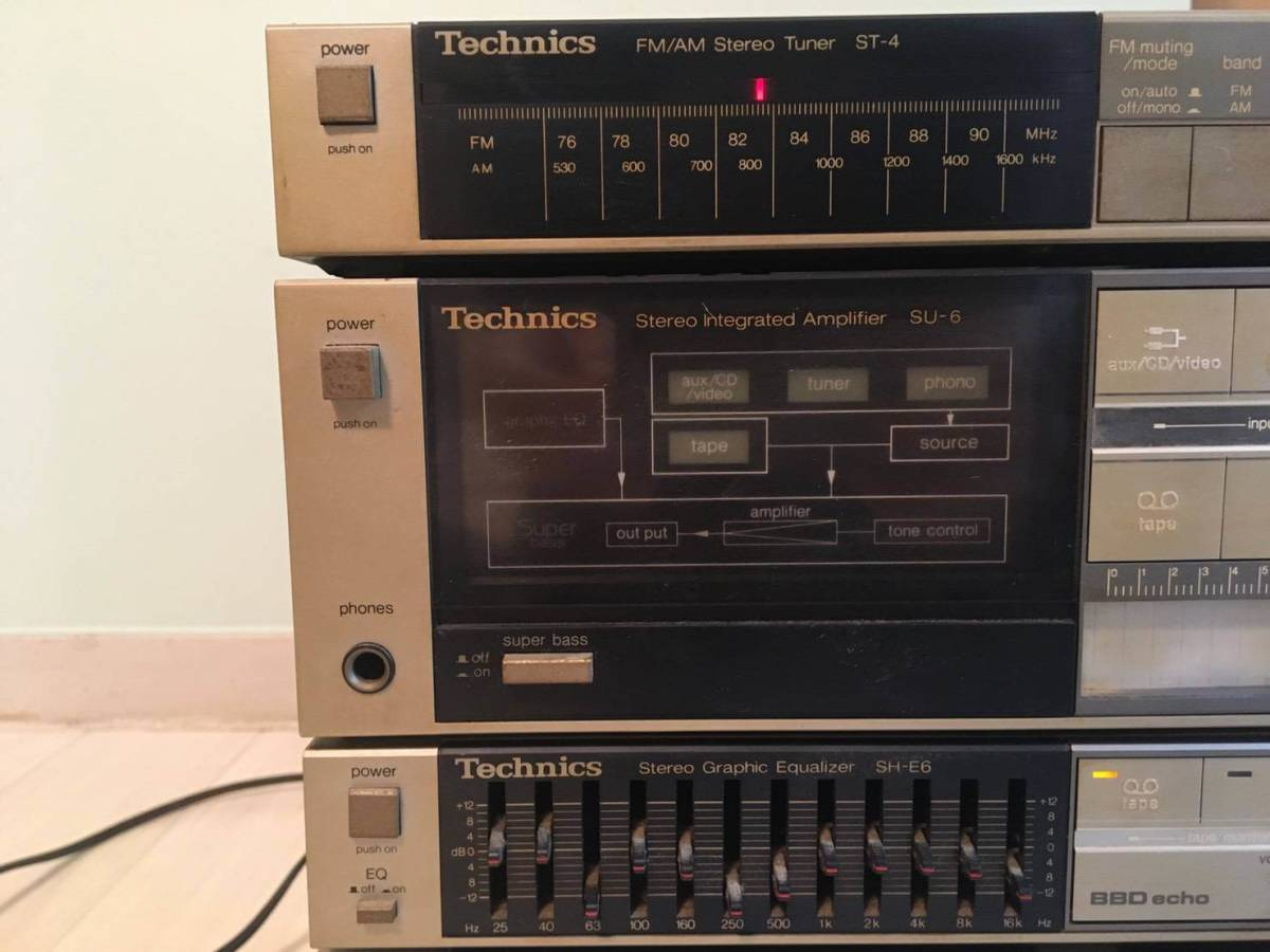 Technics テクニクス SH-E6 ST-4 SU-6 RS-1W コンポ イコライザー オーディオ_画像4
