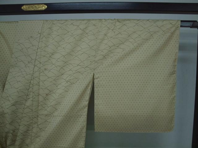新品 1531 特選 大島紬『二代目 川村久太郎』お仕立て上がり訪問着 蒸栗色系 つゆ芝_画像5