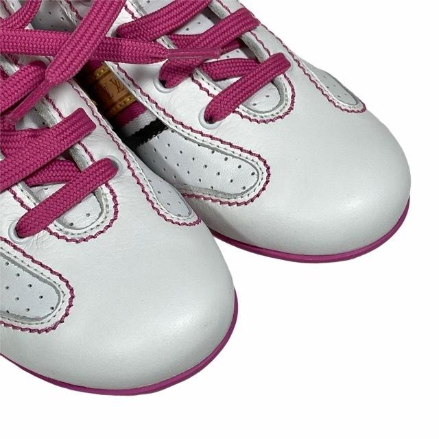 【美品】LOUIS VUITTON ルイヴィトン スニーカー 靴 シューズ LVロゴ キッズ チルドレン ホワイト ピンク [サイズ 20 (約12cm)_画像5