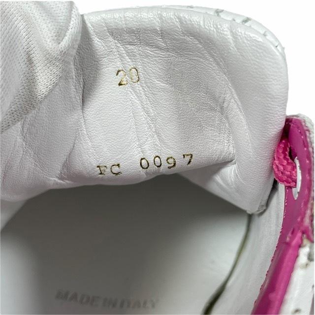 【美品】LOUIS VUITTON ルイヴィトン スニーカー 靴 シューズ LVロゴ キッズ チルドレン ホワイト ピンク [サイズ 20 (約12cm)_画像6