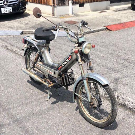 「TOMOS トモス 走行距離3406km モペッド モペット 自転車バイク レストアベース 部品取り 現状 104-10」の画像2