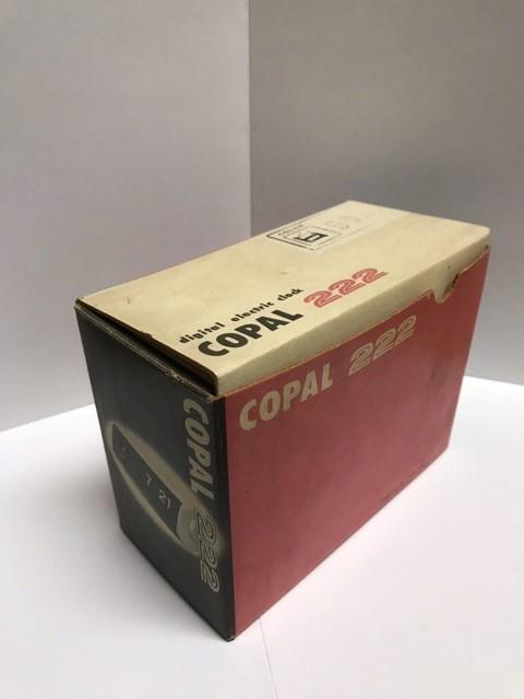 COPAL デジタルクロックコパル222 パタパタ時計 箱・取説・保証書付き 昭和 レトロ_箱